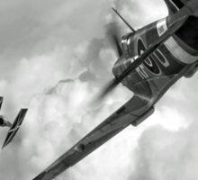 Spitfire VS Tie Fighter Sticker