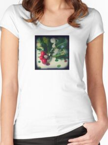 Holly berries Women's Fitted Scoop T-Shirt