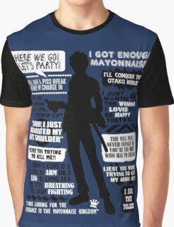Gintama - Hijikata Toshiro Quotes Graphic T-Shirt