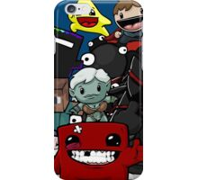 All Character Steam Super Meat boy edition iPhone Case/Skin