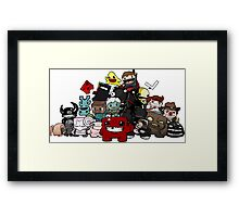 All Character Steam Super Meat boy edition Framed Print