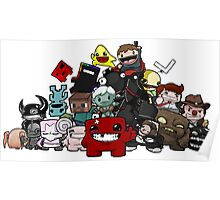 All Character Steam Super Meat boy edition Poster