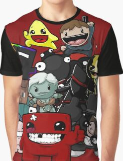 All Character Steam Super Meat boy edition Graphic T-Shirt