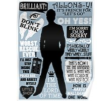 Doctor Who - 10th Doctor Quotes Poster