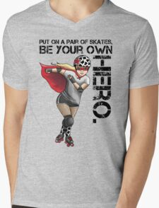 Be Your Own Hero Mens V-Neck T-Shirt