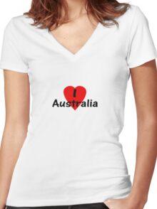 I Love Australia - T-Shirt & Sticker Women's Fitted V-Neck T-Shirt