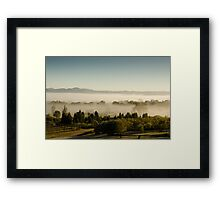 Morning Fog at Mudgee Homestead Guesthouse - Mudgee Framed Print