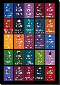 Keep Calm And Watch Supernatural by RisenShine22