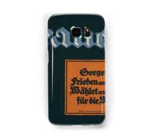 Frauen! Sorget für Frieden und Brot! Wählet und werbt für die Wahl! 1379 Samsung Galaxy Case/Skin