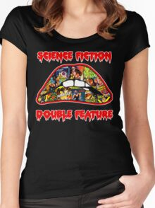 Science Fiction / Double Feature (LIPS! LIPS!! LIPS!!!) Women's Fitted Scoop T-Shirt