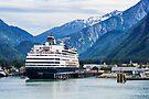 Cruise Ship in Skagway Harbour by Yukondick