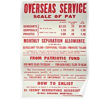 Overseas service scale of pay and How to enlist Poster