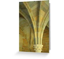 Gothic Columns Greeting Card