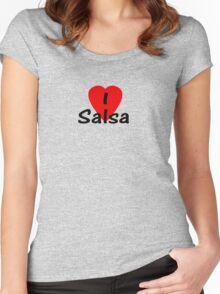 I Love Salsa T-shirt & Top Women's Fitted Scoop T-Shirt
