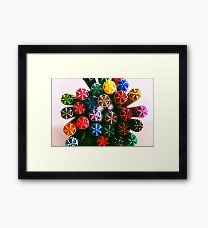 Colour me a Rainbow  Framed Print
