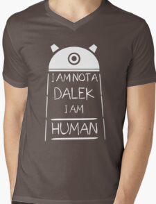 I am not a Dalek. I am Human. Mens V-Neck T-Shirt