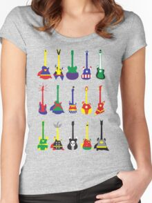 Guitar Heroes  Women's Fitted Scoop T-Shirt