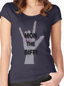 MON THE BIFF! Women's Fitted Scoop T-Shirt