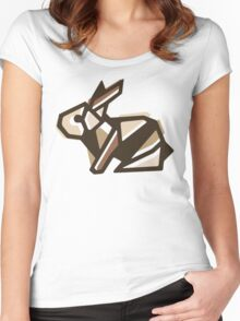 Paper Anigami Bunny Women's Fitted Scoop T-Shirt