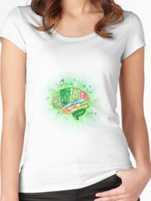 Think green Women's Fitted Scoop T-Shirt