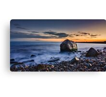 Sunset at Point Judith Canvas Print