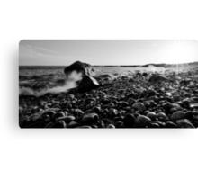 Black and White Wave Crash Canvas Print