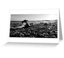 Black and White Wave Crash Greeting Card