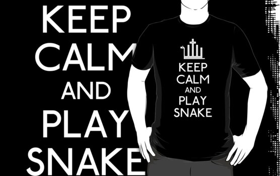 Keep calm and play snake by karlangas