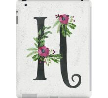 Monogram H with Floral Wreath iPad Case/Skin