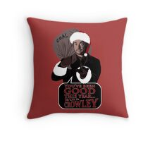 Santa Crowley's coming to town Throw Pillow
