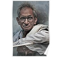 Portrait of a Man in Varanasi Poster