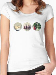 Christmas trio Women's Fitted Scoop T-Shirt
