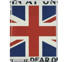Join at once Fight for the dear old flag 371 iPad Case/Skin