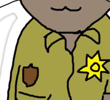 Rick Grimes Kitty Sticker