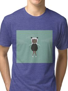 Gracie in Blue Tri-blend T-Shirt