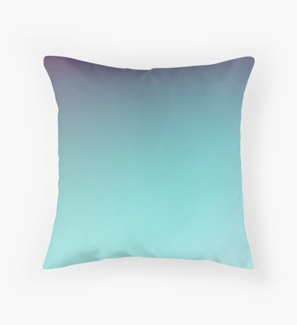 AQUA - Plain Color iPhone Case and Other Prints Throw Pillow