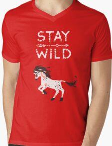 Stay Wild Mens V-Neck T-Shirt