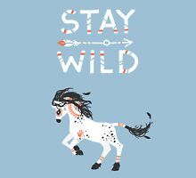 Stay Wild Womens Fitted T-Shirt