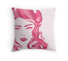 Pink Mood Throw Pillow