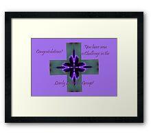 Banner - Lovely Lavender Challenge Winner Framed Print