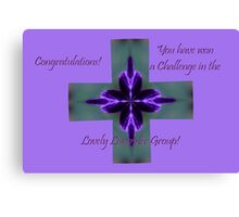 Banner - Lovely Lavender Challenge Winner Canvas Print