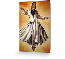 Semasen - Sufi Whirling Dervish Greeting Card