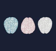 Brainy Pastel Pattern (Awesome Pastel Brains) Kids Tee