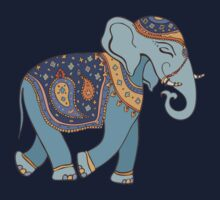 Colorful Tribal Paisley Elephant Pattern Kids Clothes