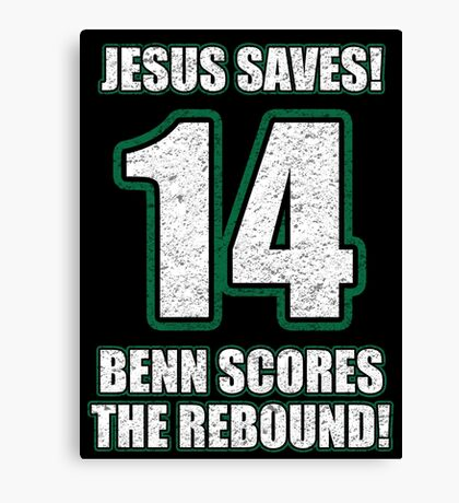 Jesus Saves - Benn Scores The Rebound Canvas Print