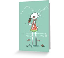 Summer Bear Greeting Card