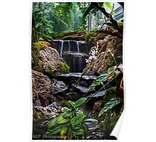 water fall stream Poster