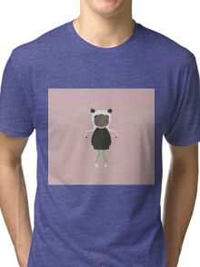 Gracie in Pink Tri-blend T-Shirt
