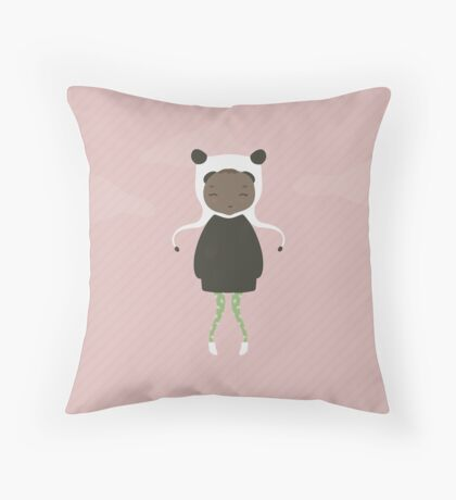 Gracie in Pink Throw Pillow
