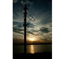 Signals over sundown Photographic Print